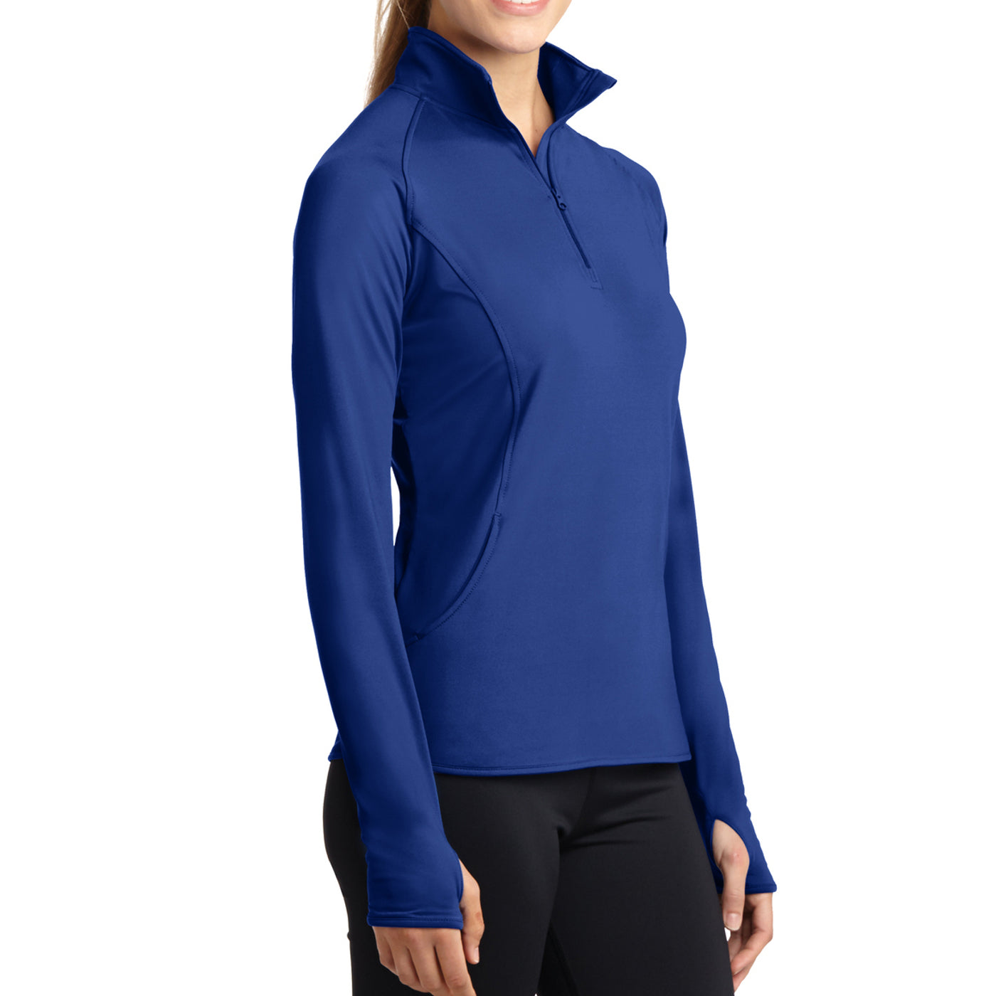 Women's Sport Wick Stretch 1/2 Zip Pullover - True Royal - Side