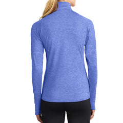 Women's Sport Wick Stretch 1/2 Zip Pullover - True Royal Heather - Back