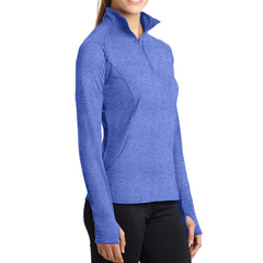 Women's Sport Wick Stretch 1/2 Zip Pullover - True Royal Heather - Side