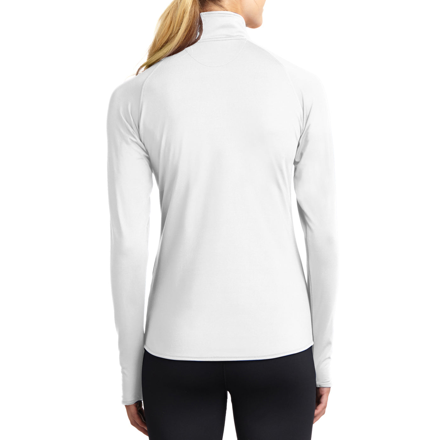 Women's Sport Wick Stretch 1/2 Zip Pullover - White - Back