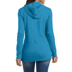 Women's Modern Stretch Cotton Full-Zip Jacket - Mosaic Blue - Back