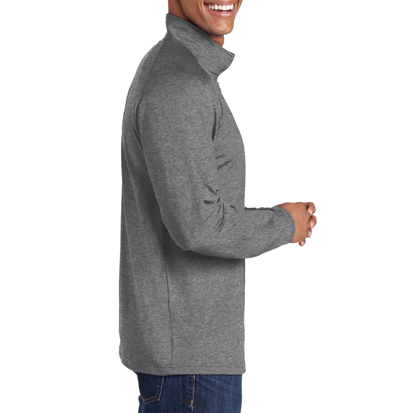 Men's Stretch 1/2 Zip Pullover - Charcoal Grey Heather