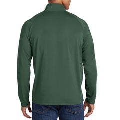 Men's Stretch 1/2 Zip Pullover - Forest Green