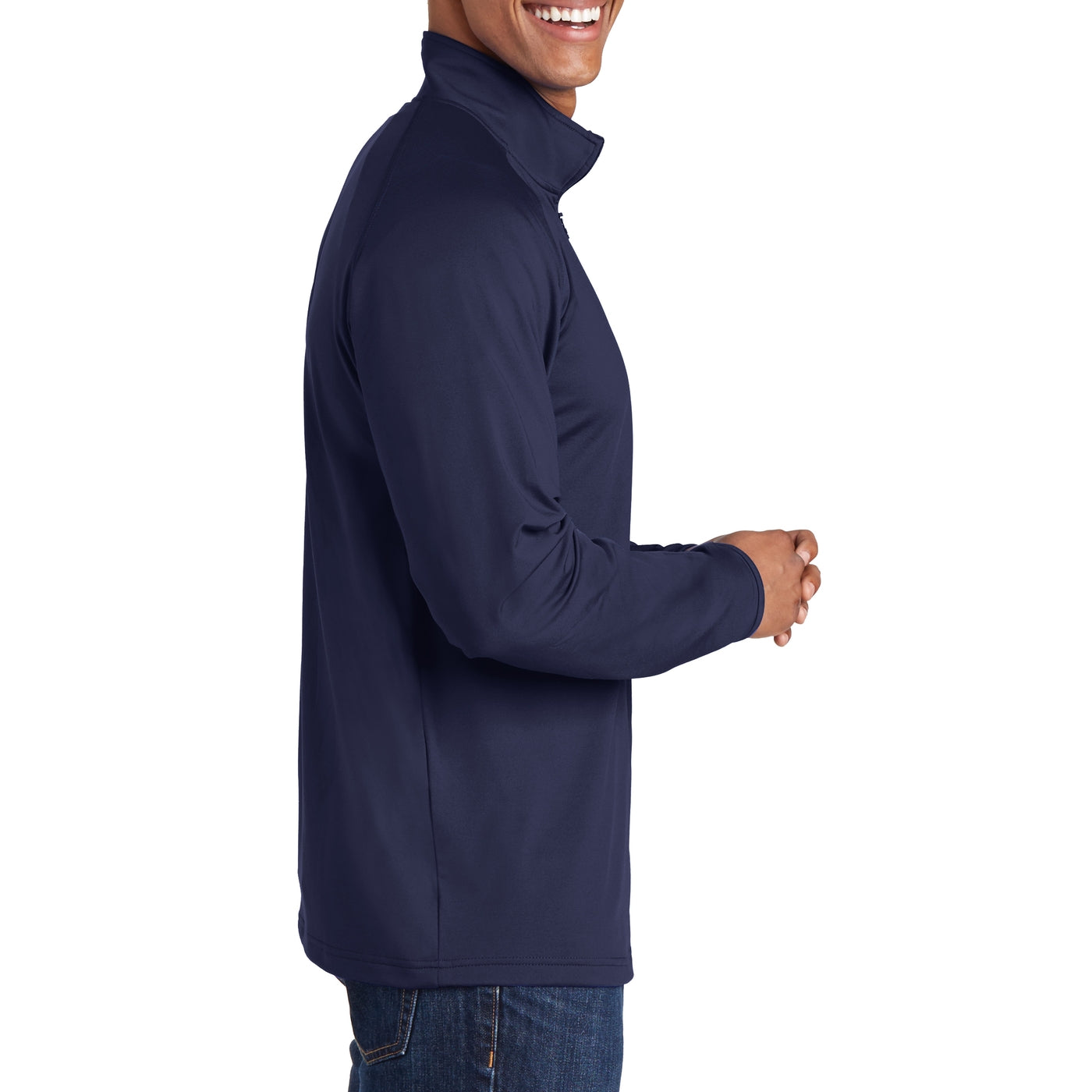 Men's Stretch 1/2 Zip Pullover - True Navy