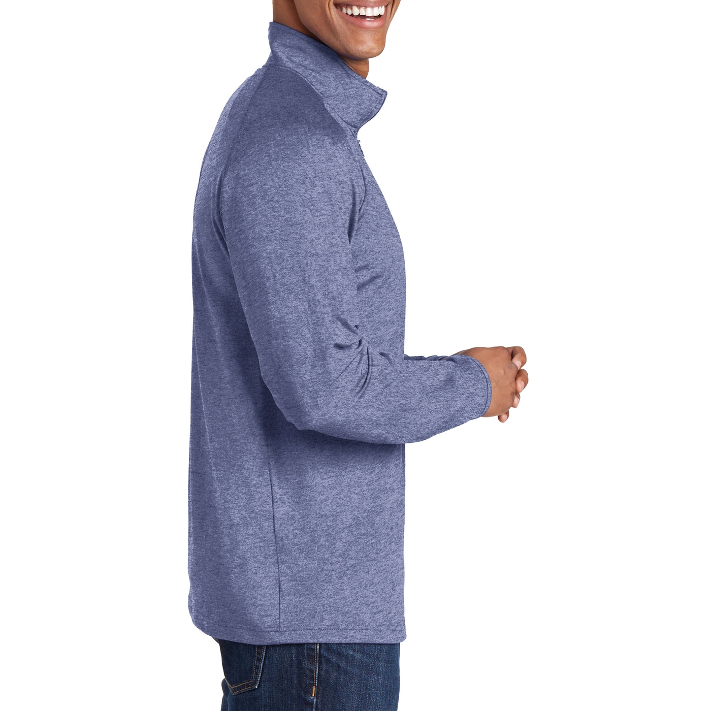 Men's Stretch 1/2 Zip Pullover - True Navy Heather