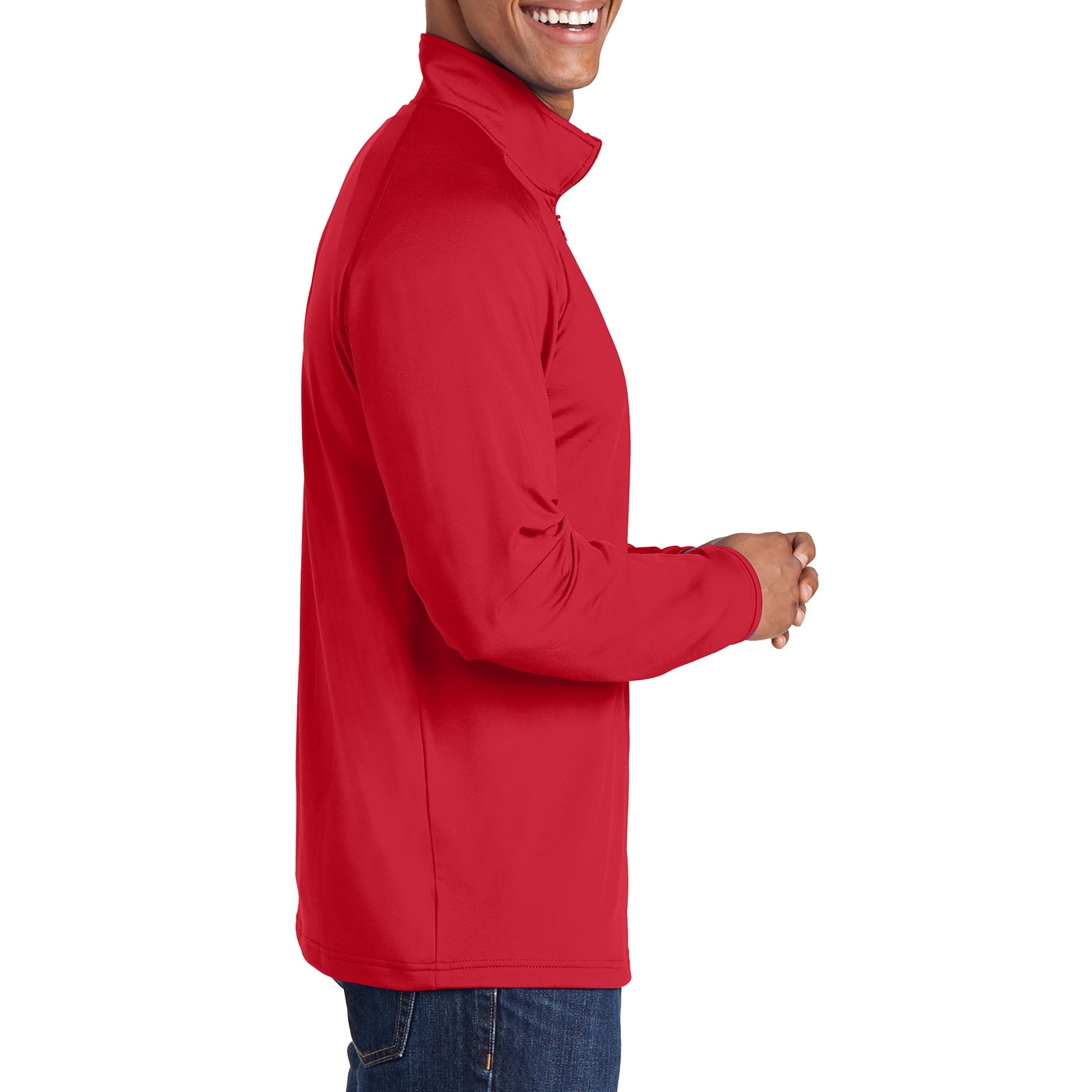Men's Stretch 1/2 Zip Pullover - True Red