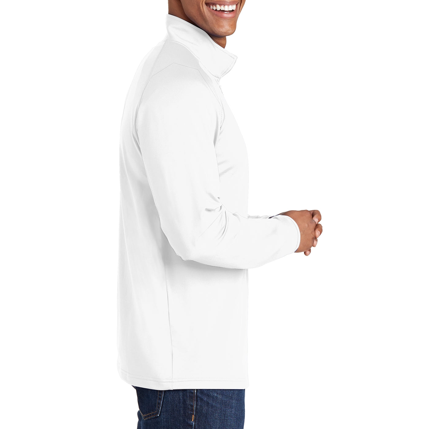 Men's Stretch 1/2 Zip Pullover - White