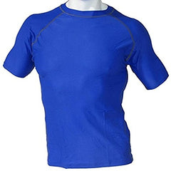 Men's Fitness Workout Base Layer Compression Shirt - Blue