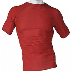 Men's Fitness Workout Base Layer Compression Shirt - Red