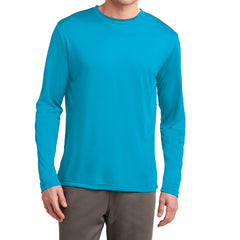 Men's Long Sleeve PosiCharge Competitor Tee - Atomic Blue