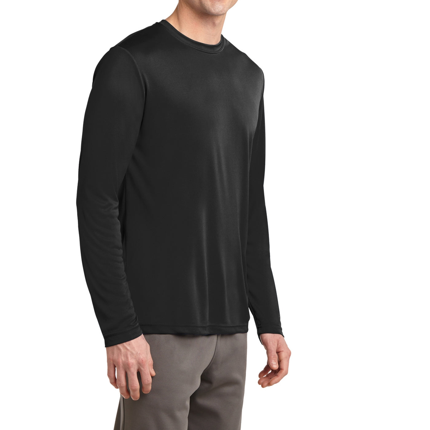 Men's Long Sleeve PosiCharge Competitor Tee - Black