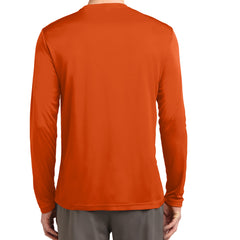 Men's Long Sleeve PosiCharge Competitor Tee - Deep Orange