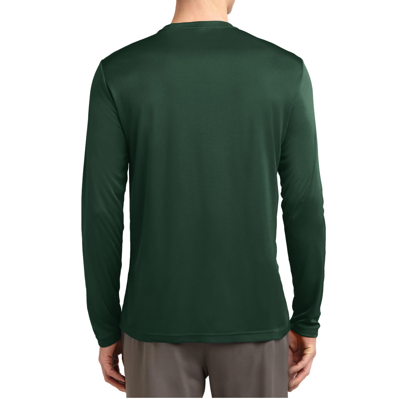 Men's Long Sleeve PosiCharge Competitor Tee - Forest Green
