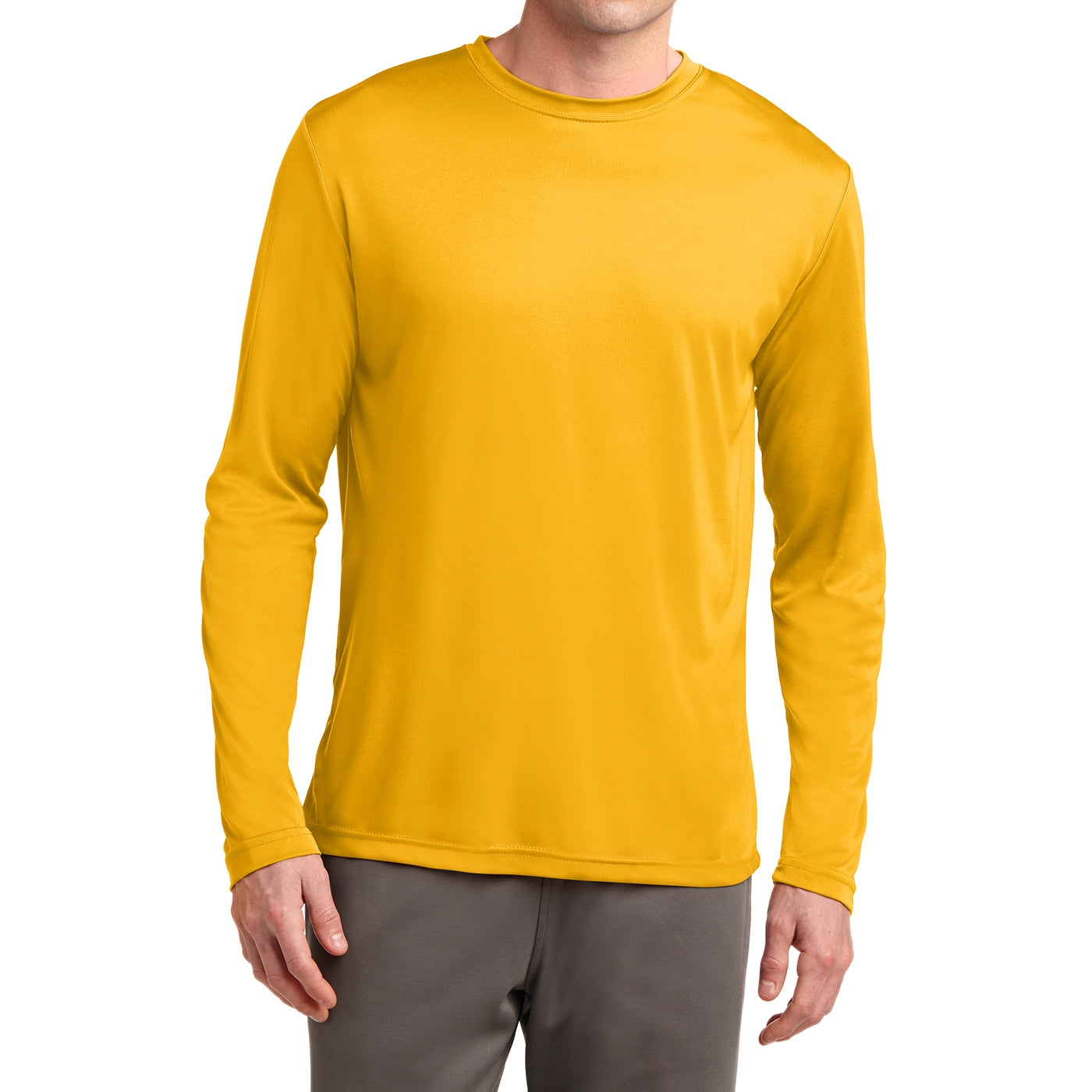 Men's Long Sleeve PosiCharge Competitor Tee - Gold