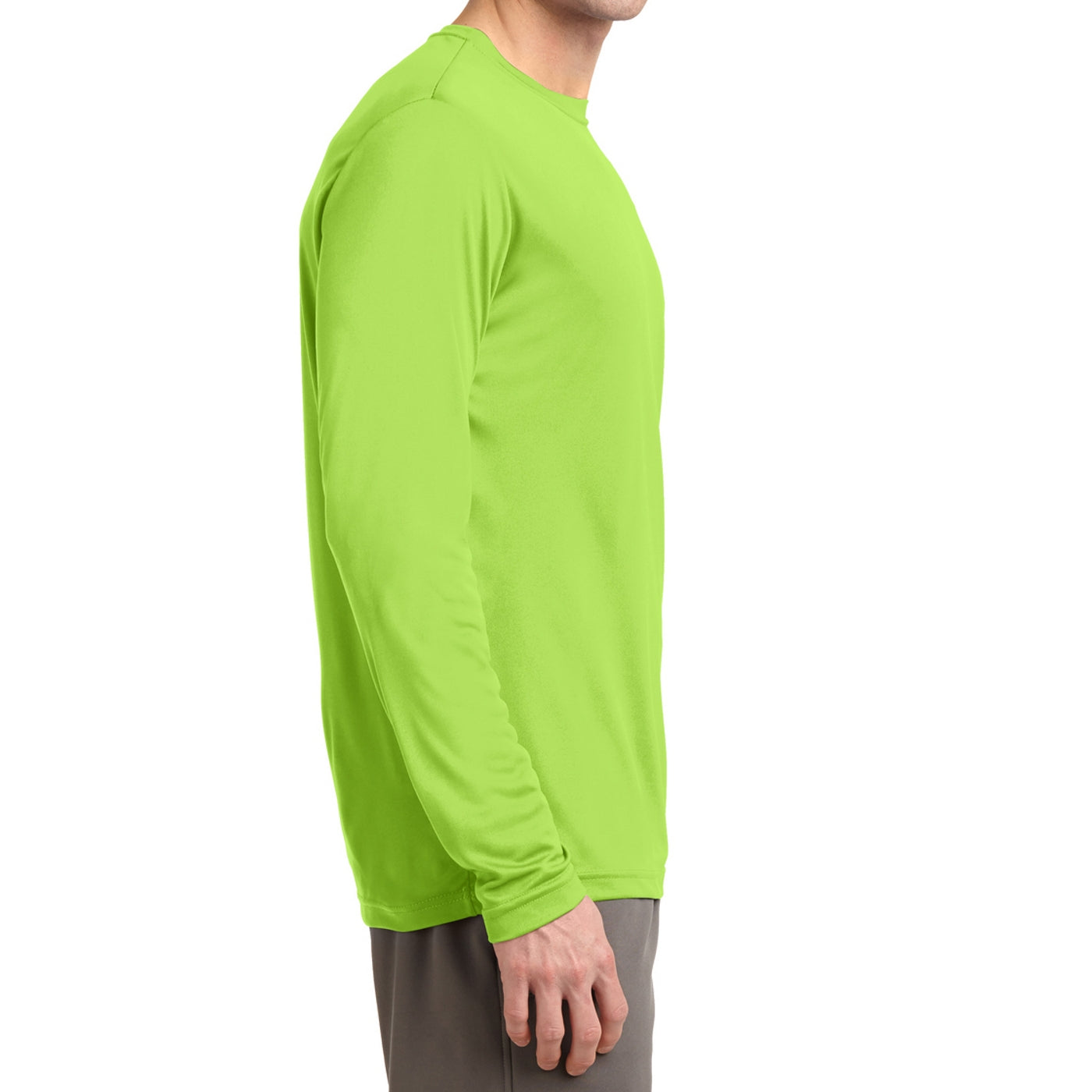 Men's Long Sleeve PosiCharge Competitor Tee - Lime Shock