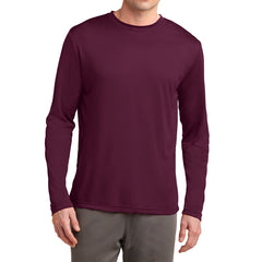 Men's Long Sleeve PosiCharge Competitor Tee - Maroon
