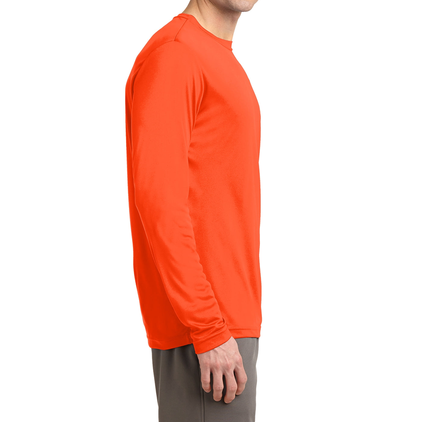 Men's Long Sleeve PosiCharge Competitor Tee - Neon Orange
