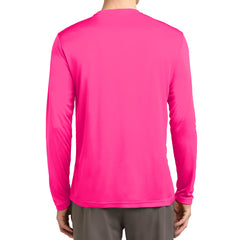 Men's Long Sleeve PosiCharge Competitor Tee - Neon Pink