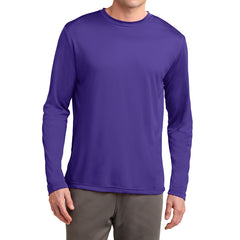 Men's Long Sleeve PosiCharge Competitor Tee - Purple