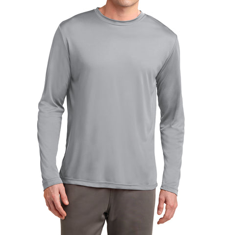 Men's Long Sleeve PosiCharge Competitor Tee - Silver