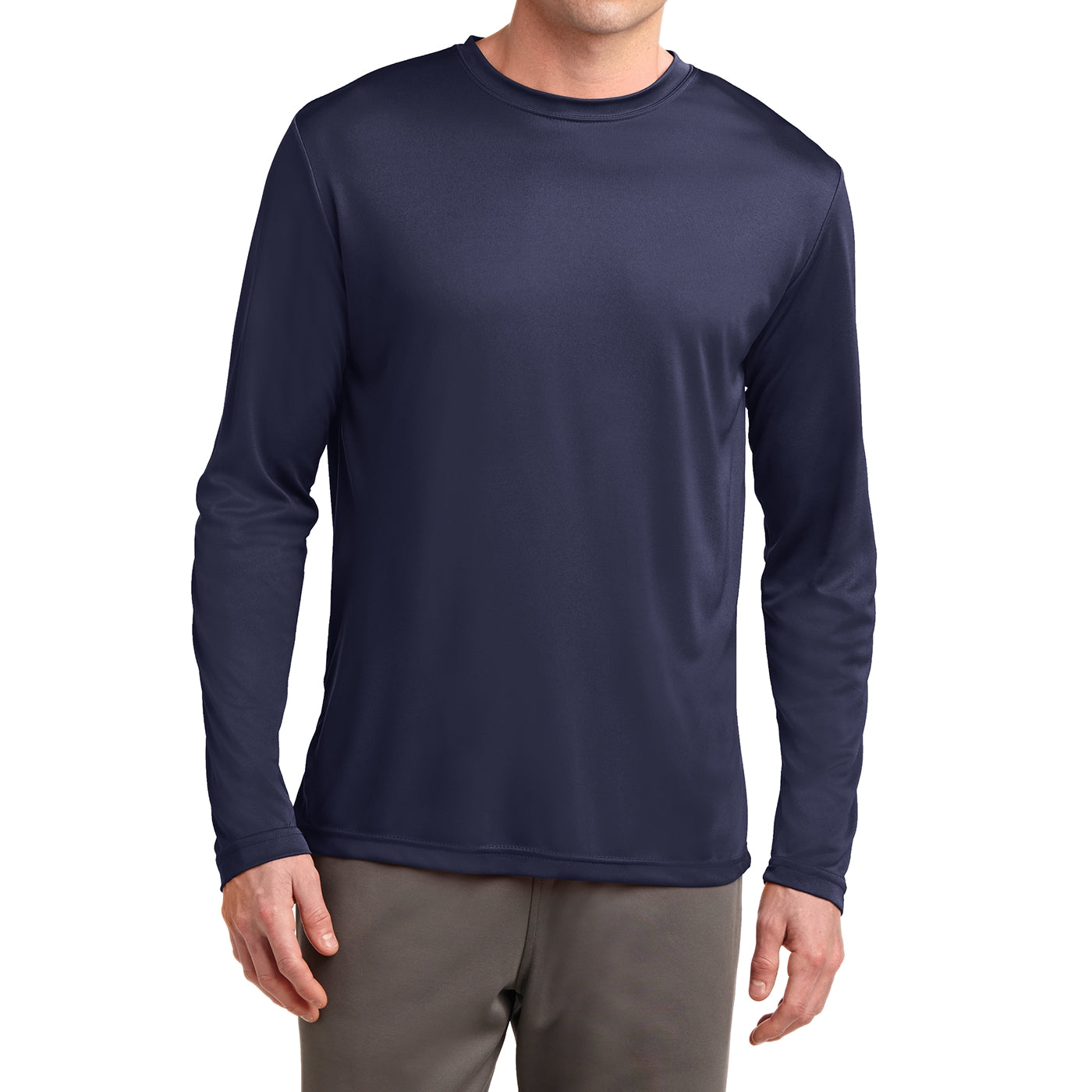Men's Long Sleeve PosiCharge Competitor Tee - True Navy