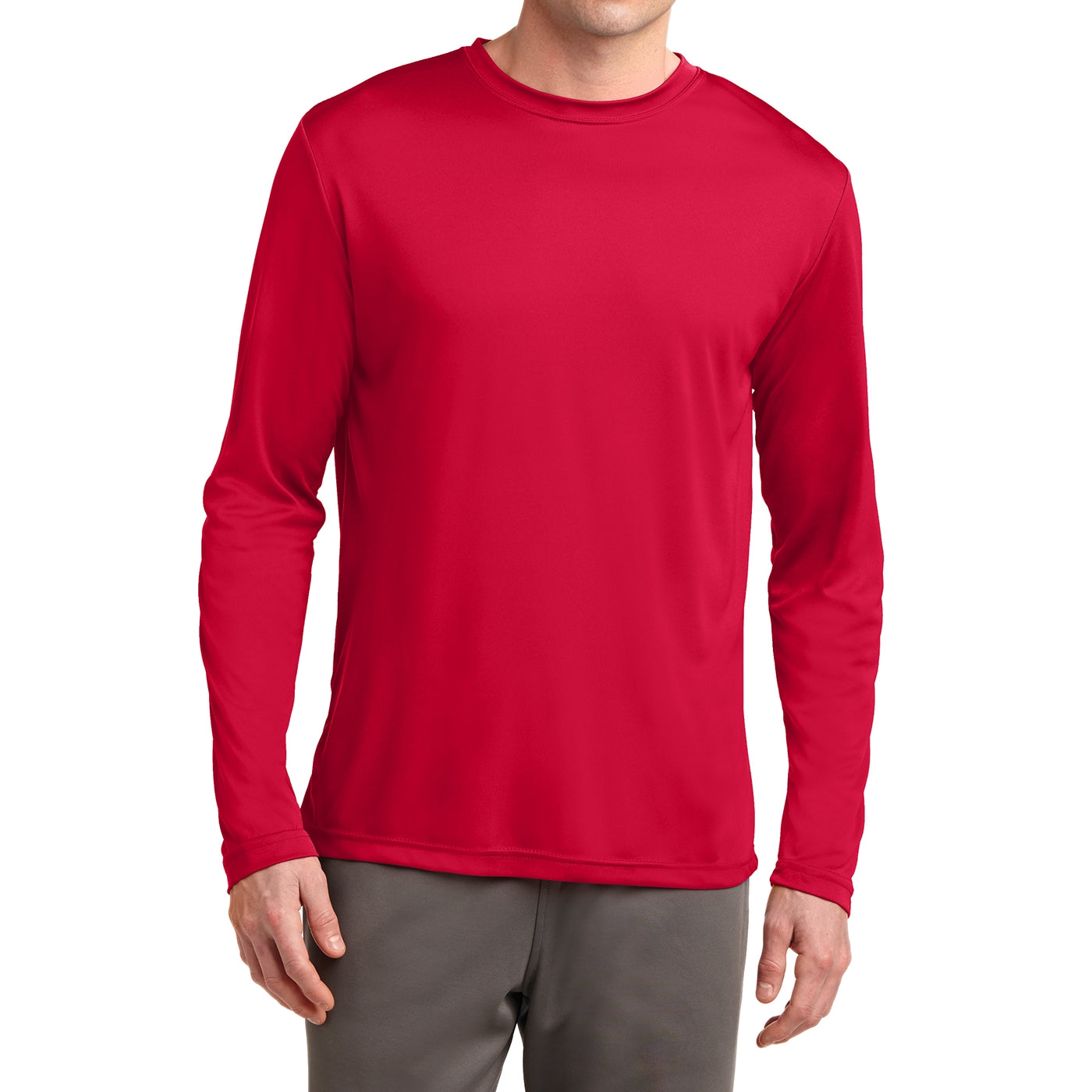 Men's Long Sleeve PosiCharge Competitor Tee - True Red
