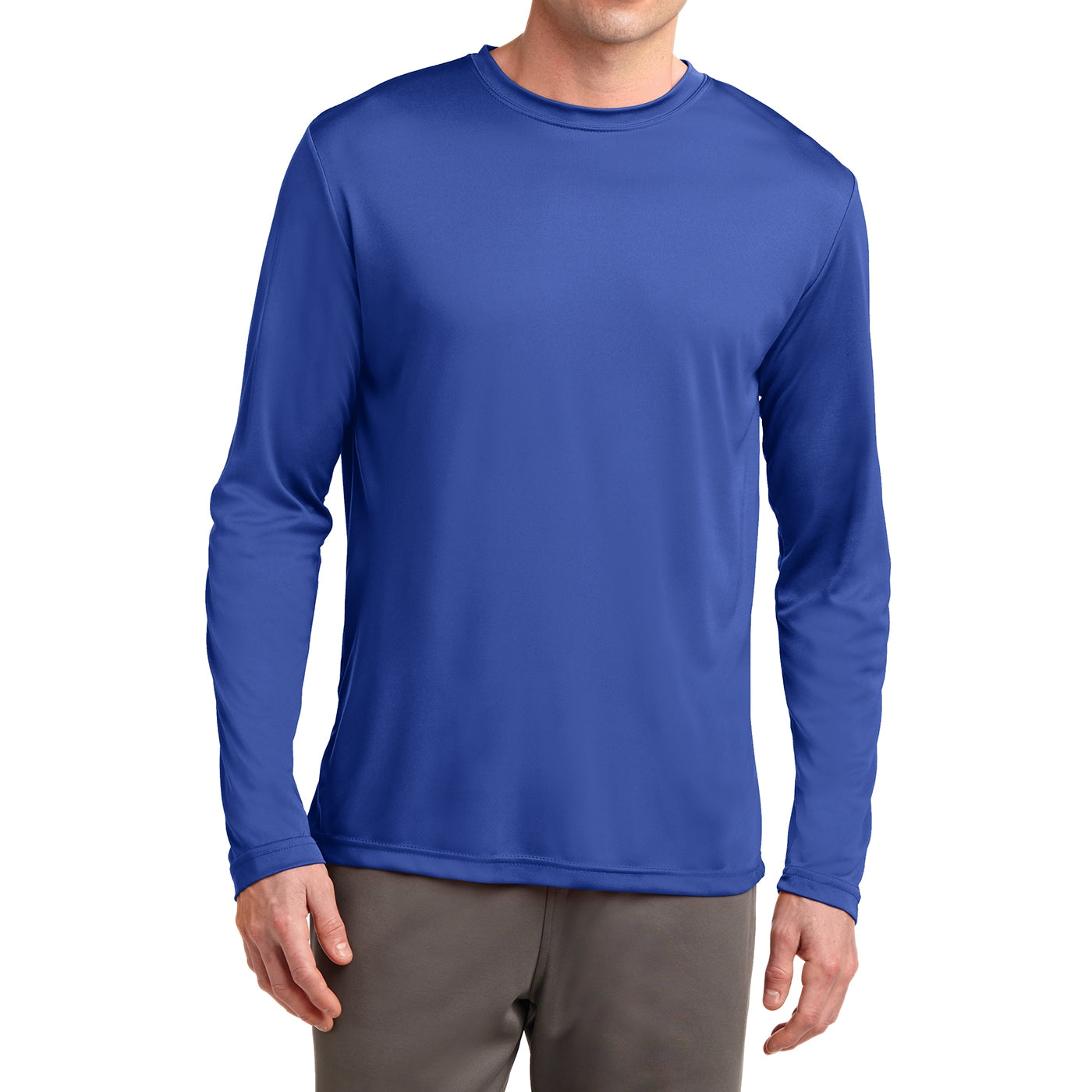 Men's Long Sleeve PosiCharge Competitor Tee - True Royal
