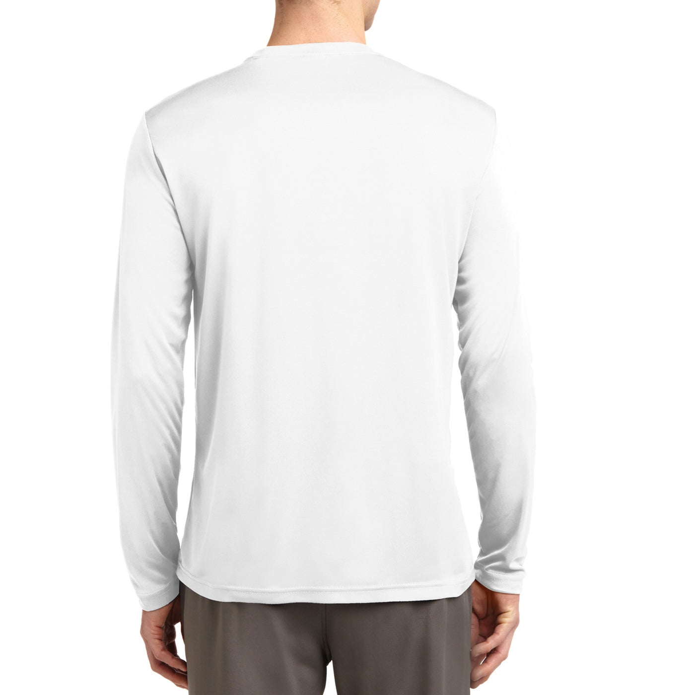 Men's Long Sleeve PosiCharge Competitor Tee - White