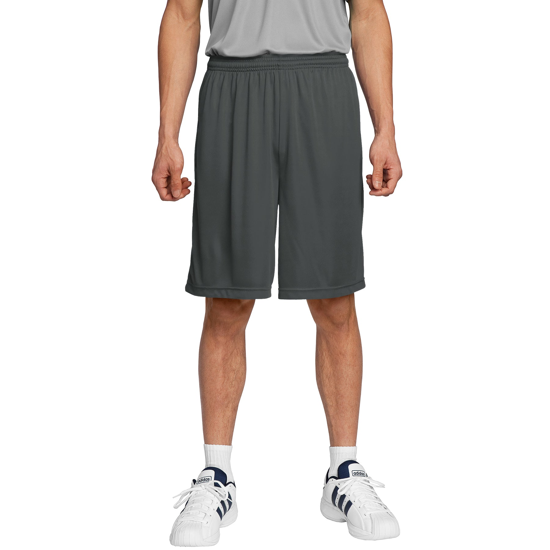 Men's PosiCharge Competitor Short Iron Grey Front