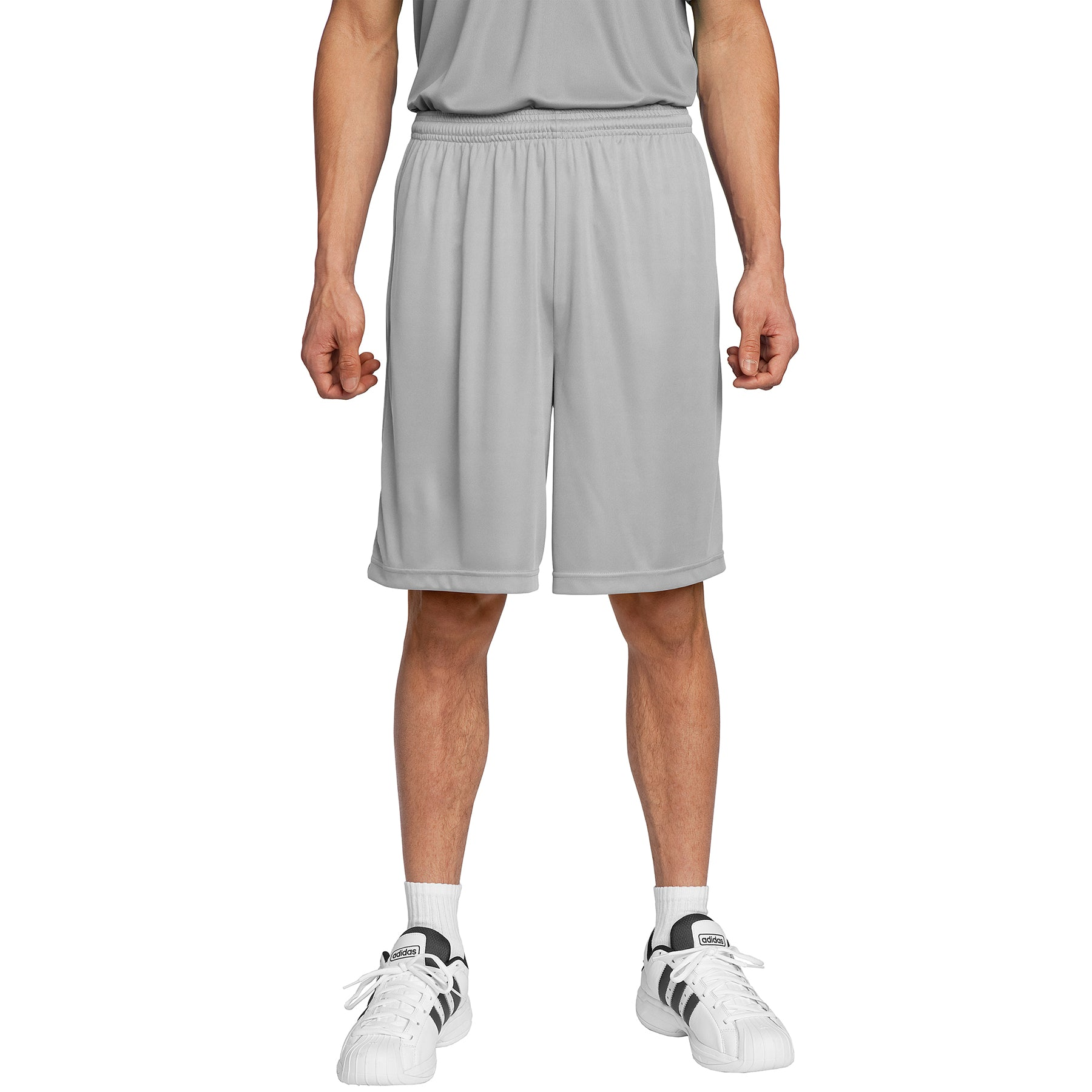 Men's PosiCharge Competitor Short Silver Front