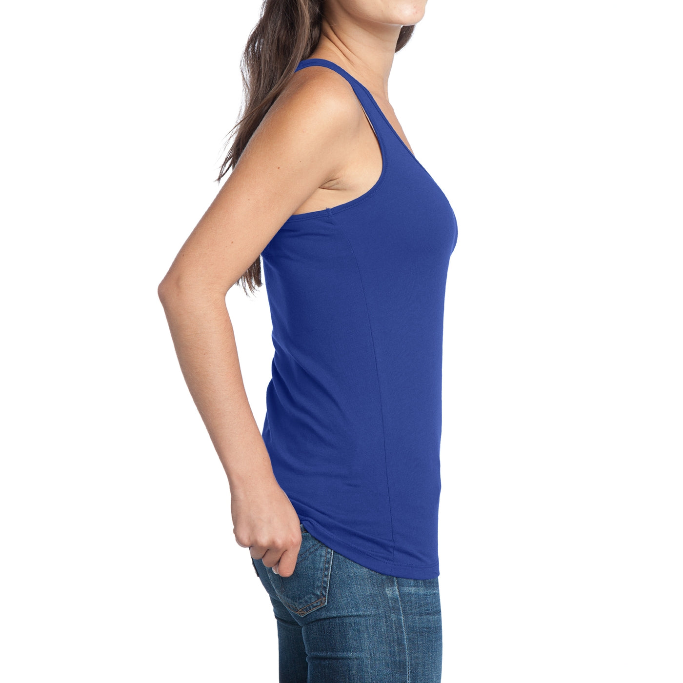 Women's Juniors 60/40 Racerback Tank - Deep Royal