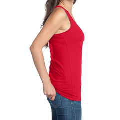 Women's Juniors 60/40 Racerback Tank - New Red