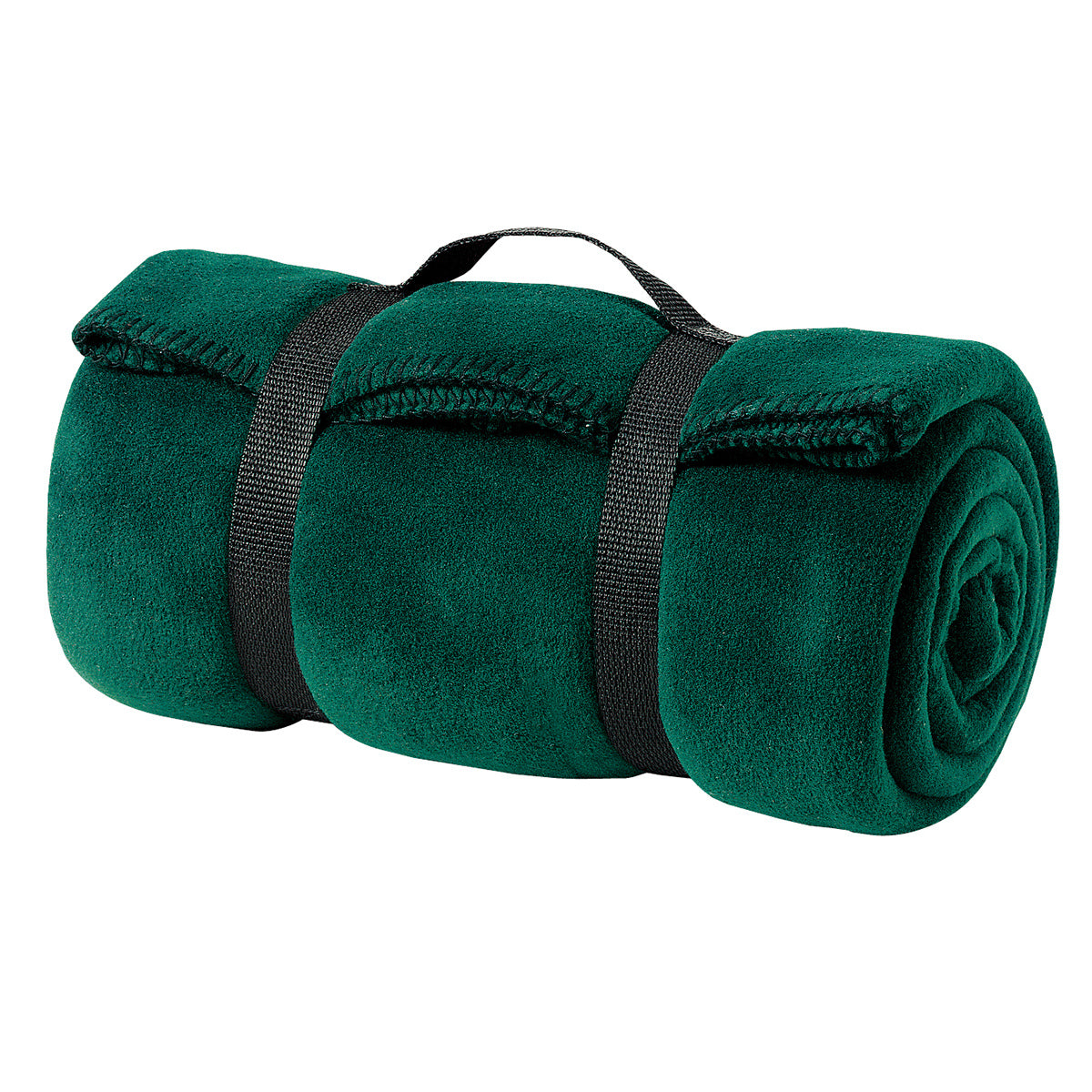Value Fleece Blanket with Strap   Dark Green