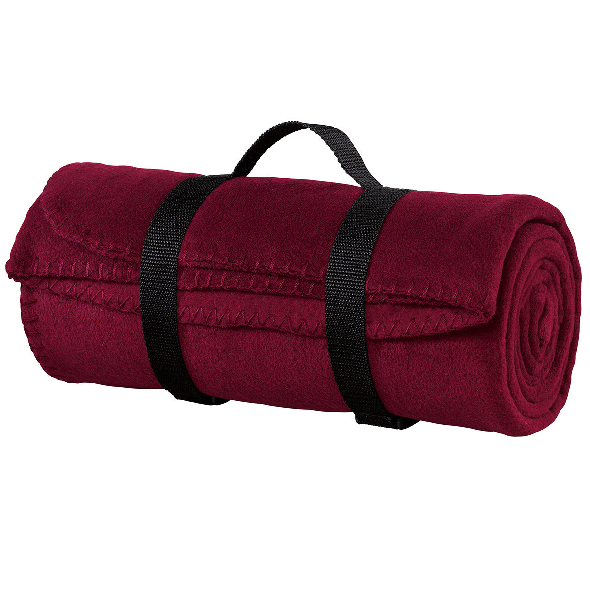 Value Fleece Blanket with Strap   Maroon