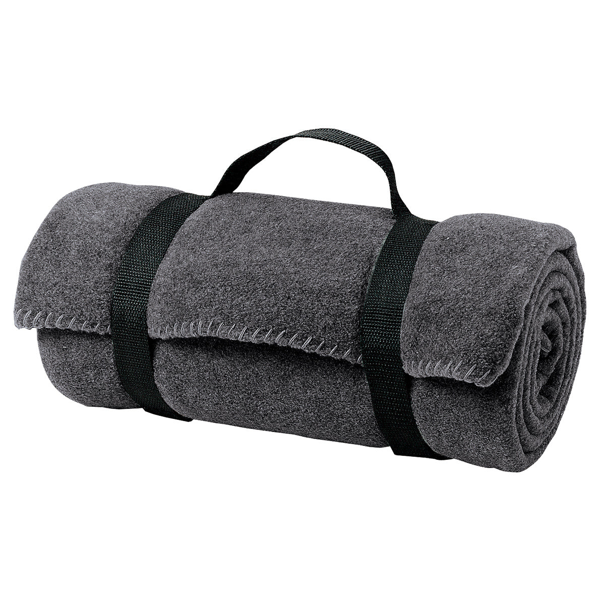 Value Fleece Blanket with Strap   Midnight Heather