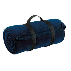 Value Fleece Blanket with Strap  Navy