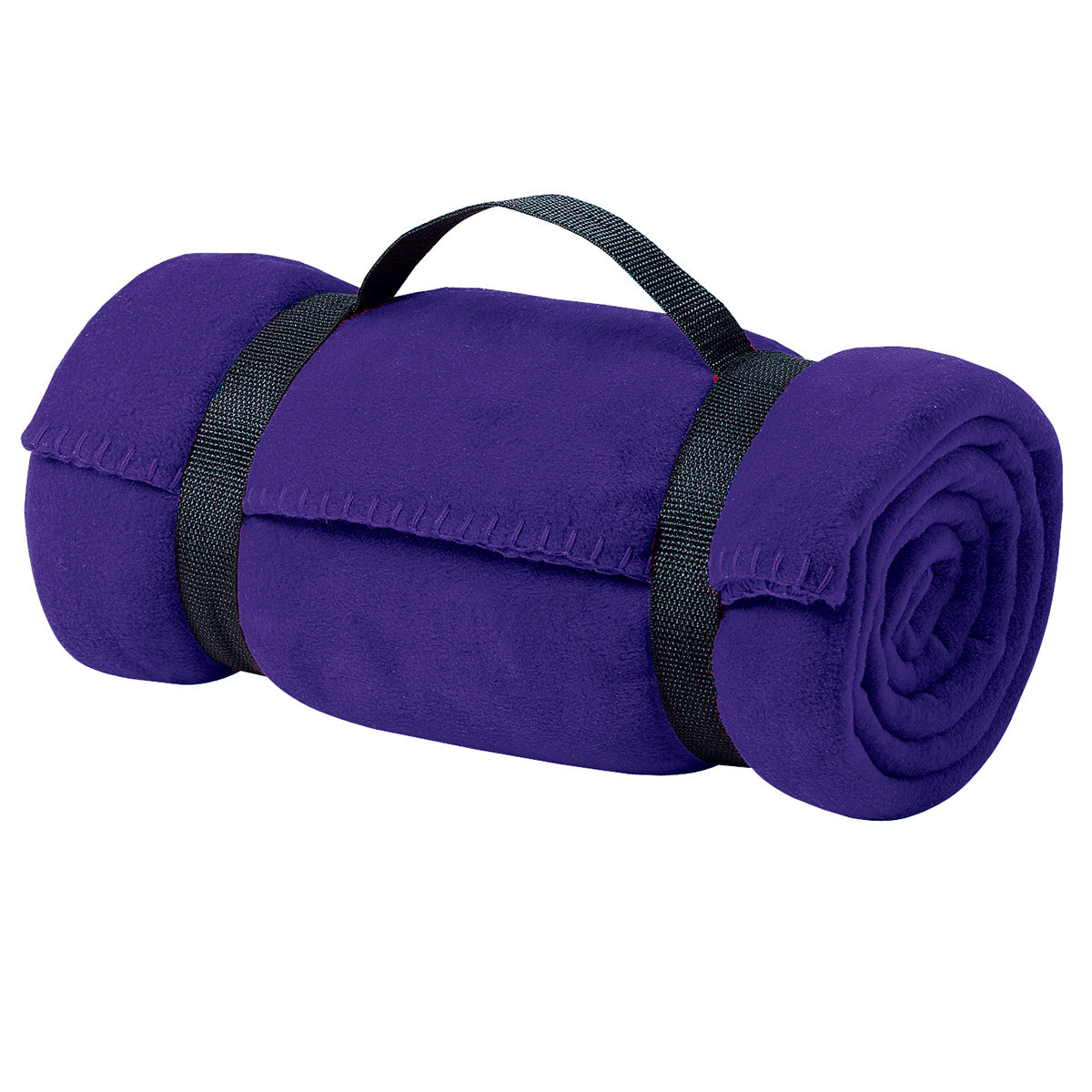 Value Fleece Blanket with Strap Purple