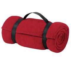 Value Fleece Blanket with Strap Red