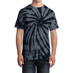 Men's Tie-Dye Tee - Black - Front