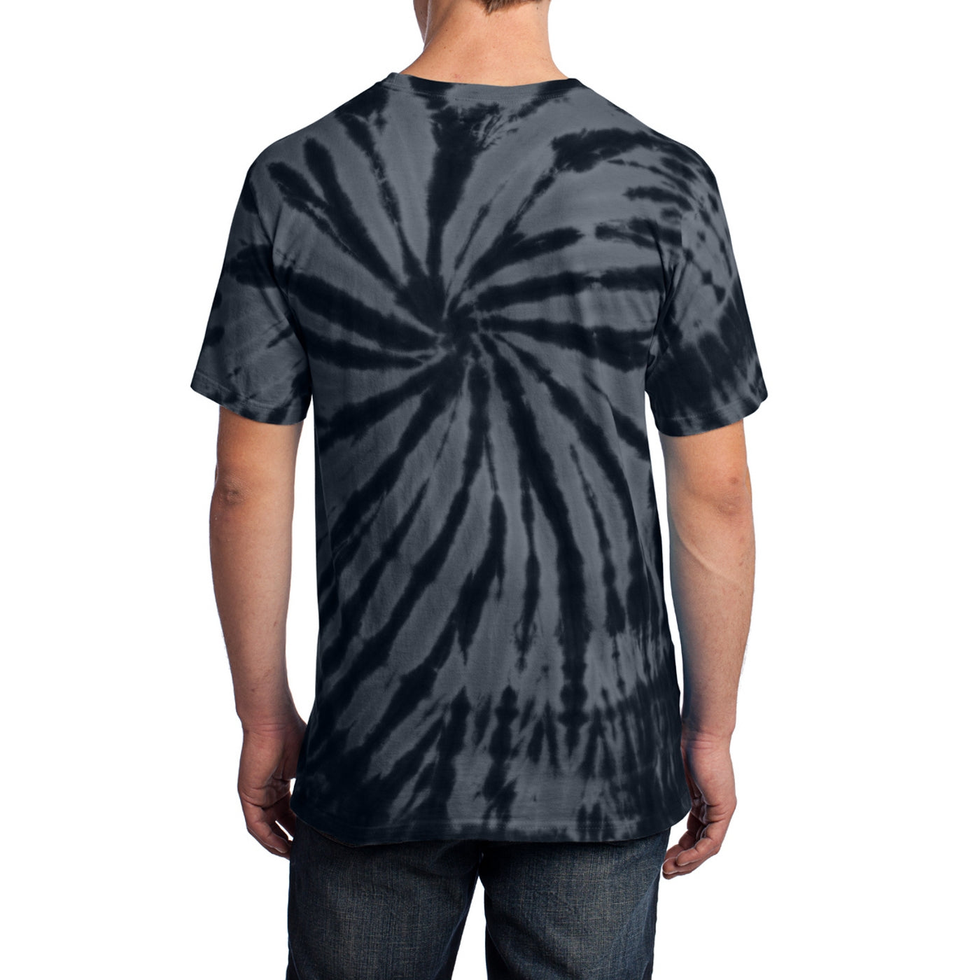 Men's Tie-Dye Tee - Black - Back