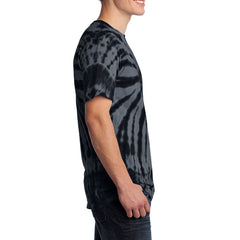 Men's Tie-Dye Tee - Black - Side