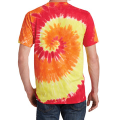 Men's Tie-Dye Tee - Blaze Rainbow - Back