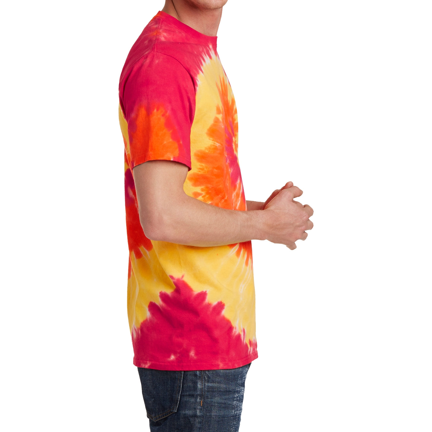 Men's Tie-Dye Tee - Blaze Rainbow - Side
