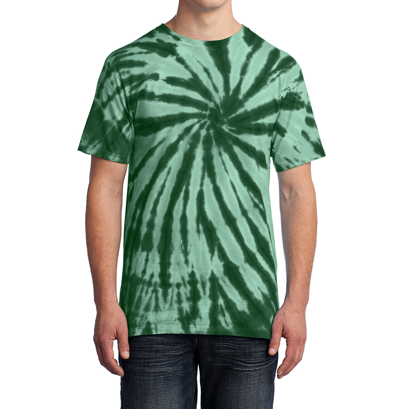 Men's Tie-Dye Tee - Forest Green - Front