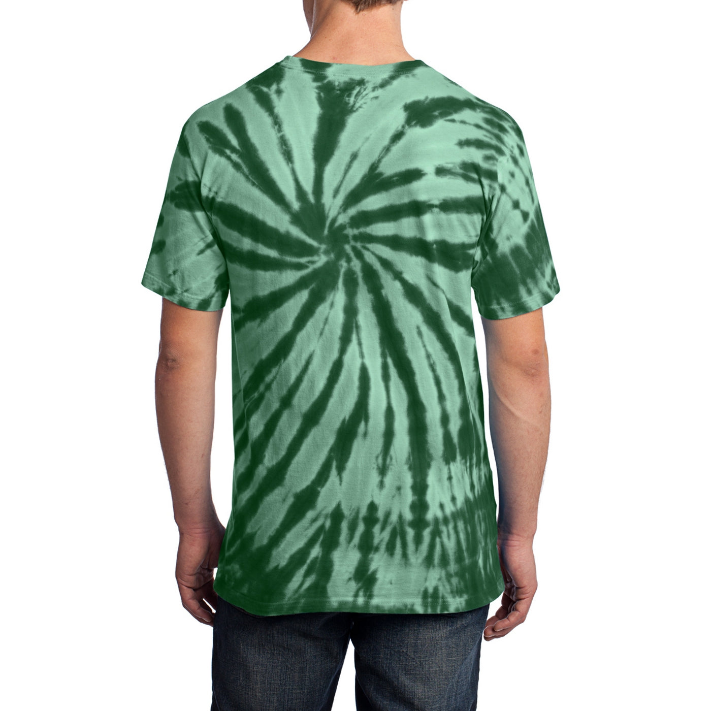 Men's Tie-Dye Tee - Forest Green - Back