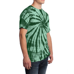 Men's Tie-Dye Tee - Forest Green - Side