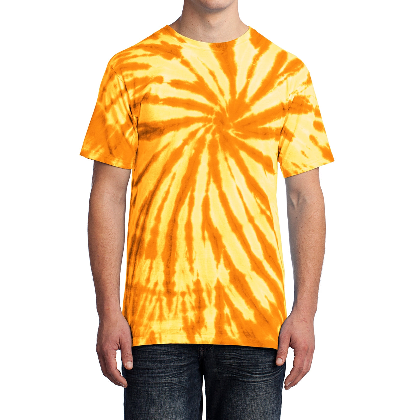 Men's Tie-Dye Tee -Gold - Front