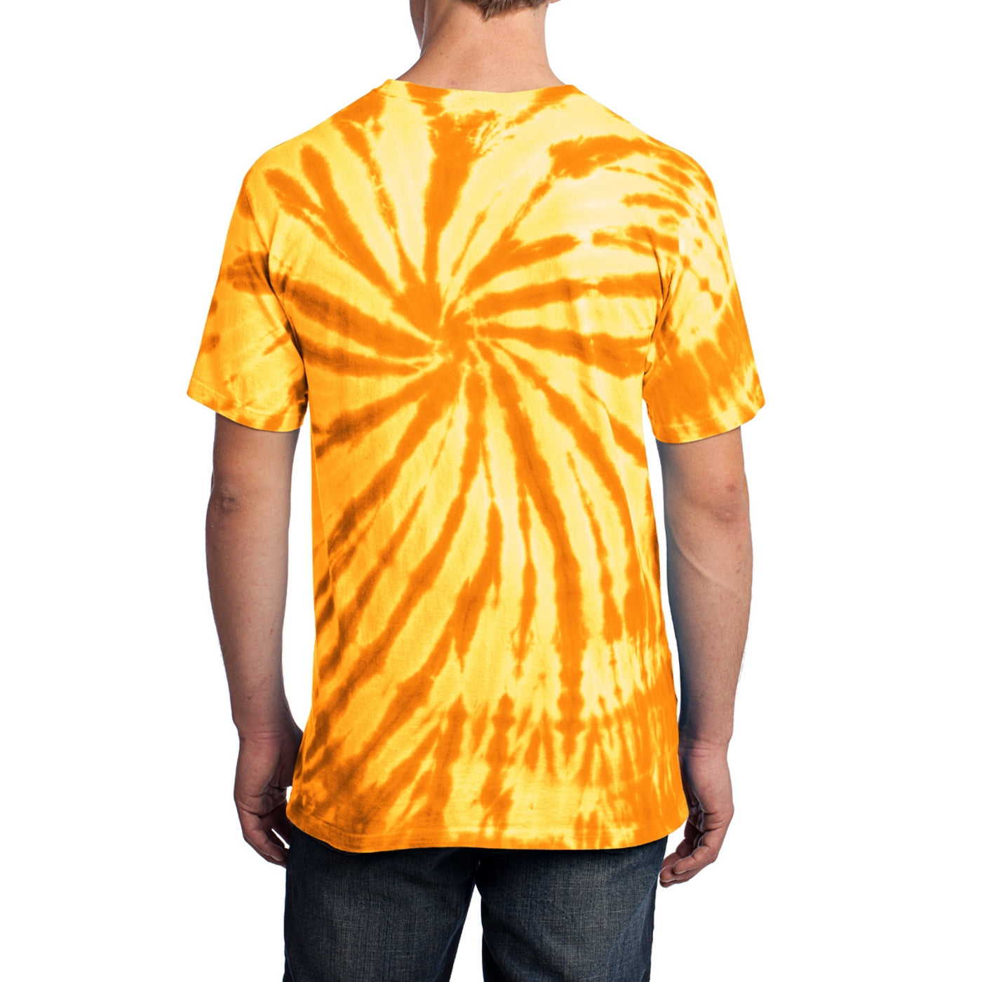 Men's Tie-Dye Tee -Gold - Back