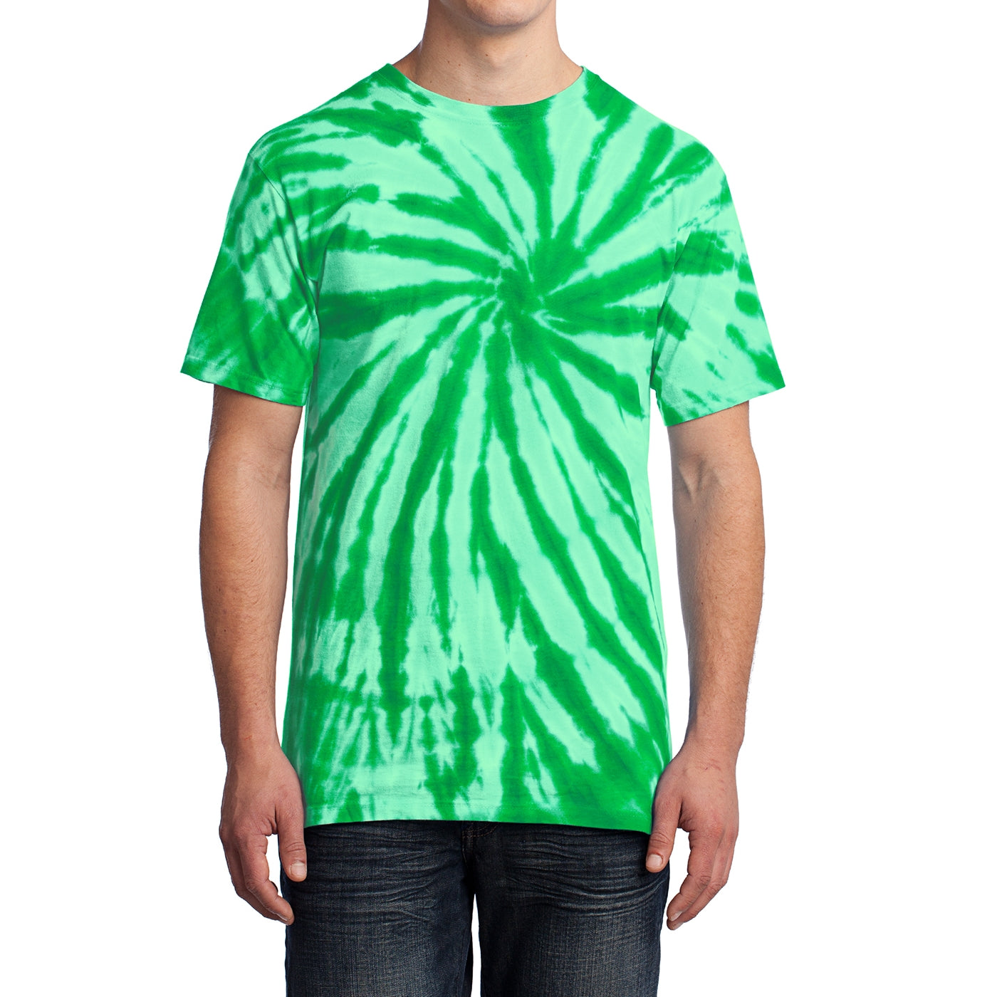 Men's Tie-Dye Tee - Kelly - Front