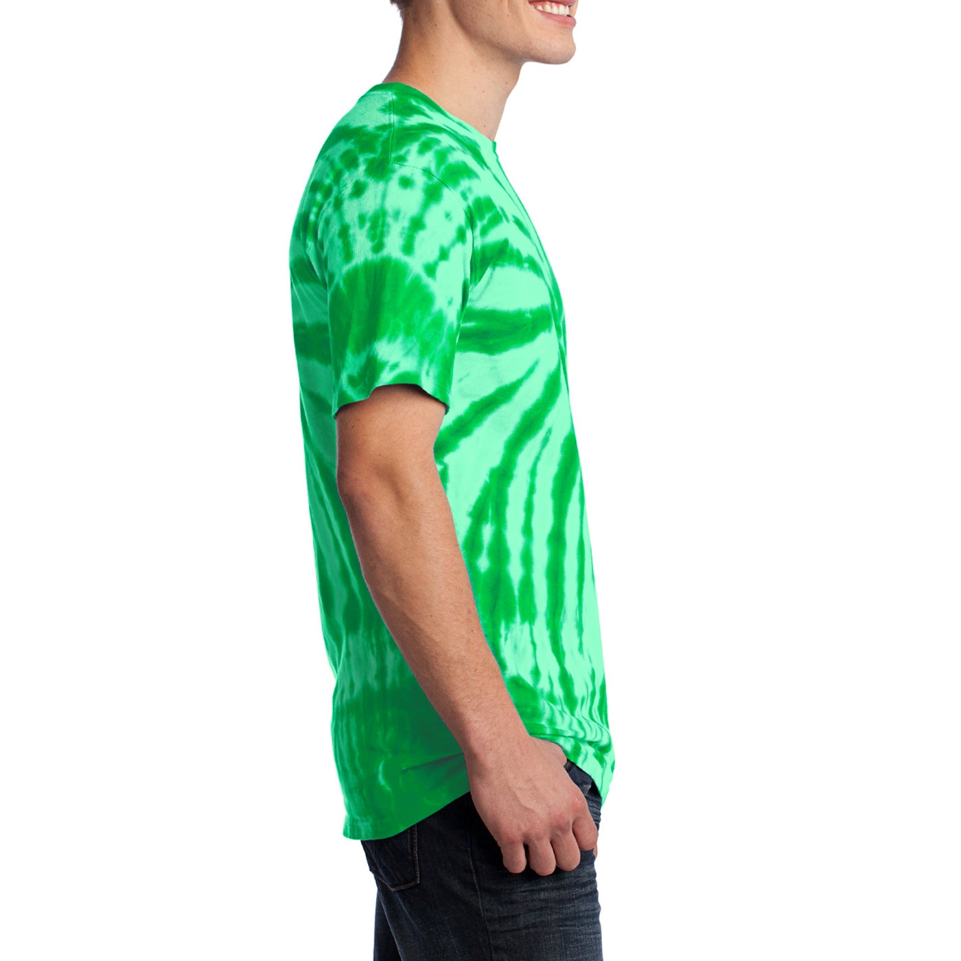 Men's Tie-Dye Tee - Kelly - Side